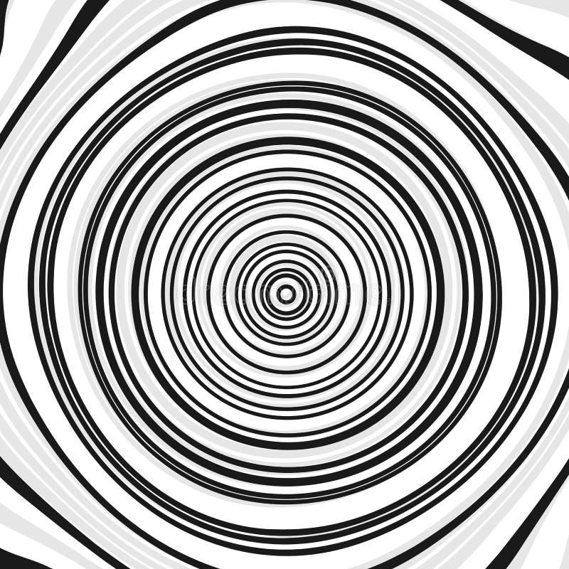 Концентрические круги, кольца Абстрактная геометрическая иллюстрация с иллюстрация вектора