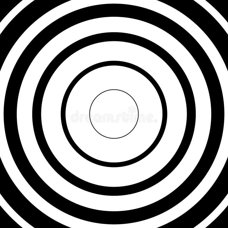 Download Концентрические круги, радиальные линии картины Monochrome конспект Иллюстрация вектора - иллюстрации насчитывающей абстракции, центрально: 81812407