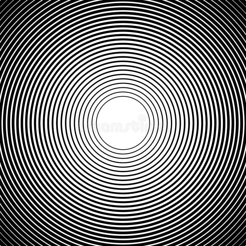 Download Концентрические круги, радиальные линии картины Monochrome конспект Иллюстрация вектора - иллюстрации насчитывающей излучение, геометрия: 81812433