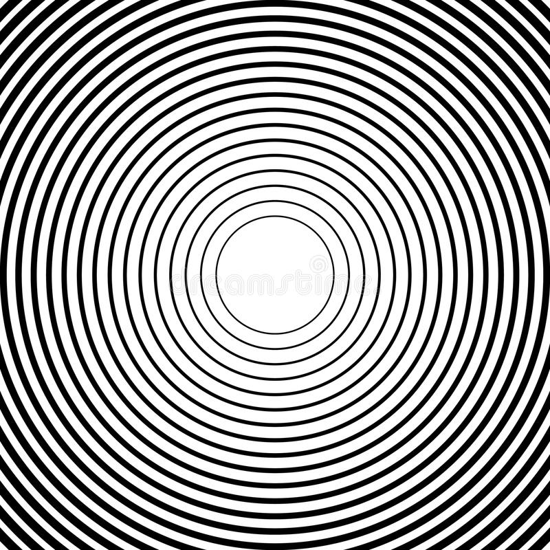 Download Концентрические круги, радиальные линии картины Monochrome конспект Иллюстрация вектора - иллюстрации насчитывающей кругово, центр: 81812445