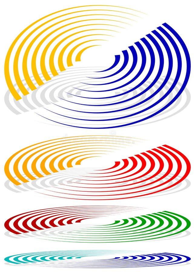 Download Концентрические круги, сигнал, спиральные формы Больше красит включенный Иллюстрация вектора - иллюстрации насчитывающей радиолокатор, концентрическо: 81812538