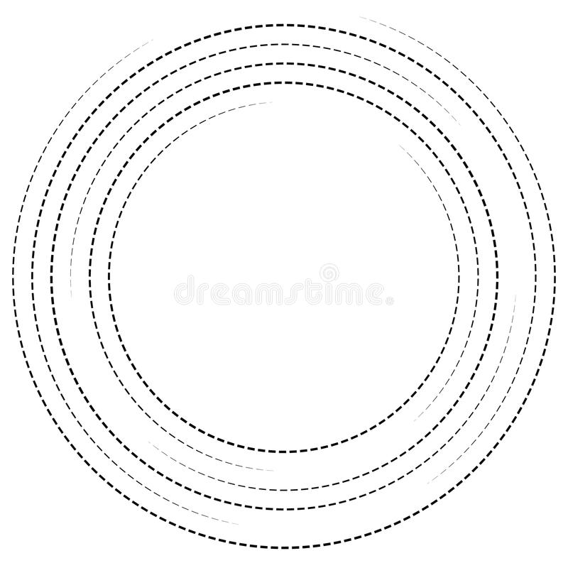 Download Концентрические круги с брошенными линиями Круговой спиральный элемент Иллюстрация вектора - иллюстрации насчитывающей циркуляция, концентрическо: 81811428