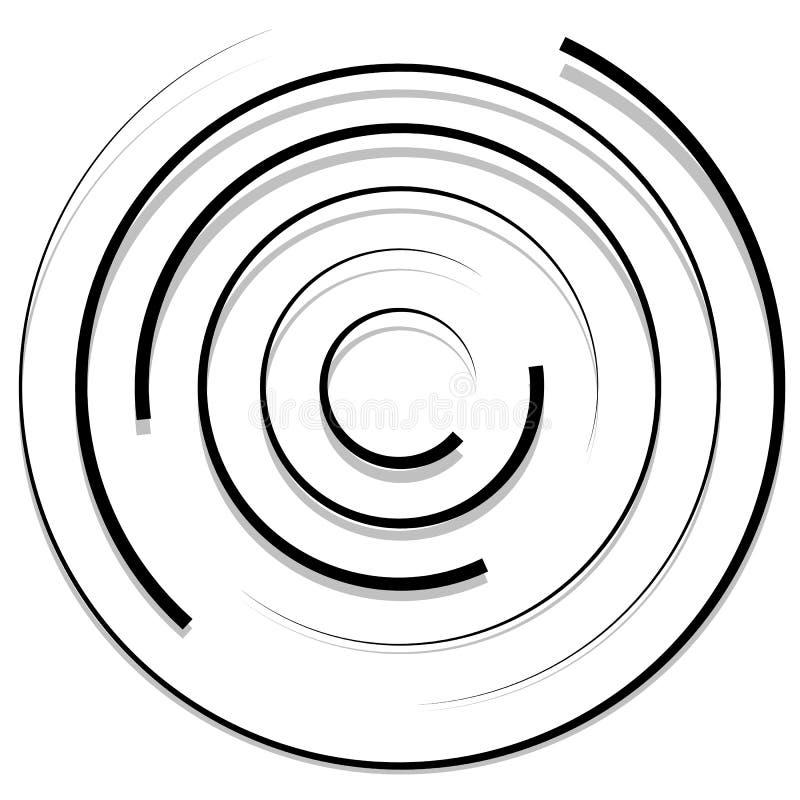 Download Концентрические случайные круги с динамическими линиями Круговая спираль, S Иллюстрация вектора - иллюстрации насчитывающей динамически, круги: 81813384