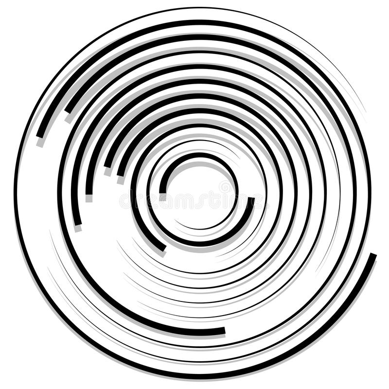Download Концентрические случайные круги с динамическими линиями Круговая спираль, S Иллюстрация вектора - иллюстрации насчитывающей сходиться, радиально: 81813394