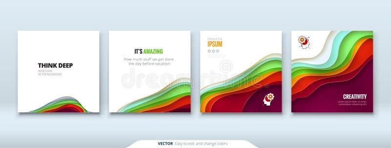 Концептуальный документ предпосылки отрезка бумаги высекает абстрактную предпосылку для дизайна рогульки брошюры знамени карточки иллюстрация вектора