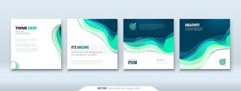 Концептуальный документ предпосылки отрезка бумаги высекает абстрактную предпосылку для дизайна рогульки брошюры знамени карточки бесплатная иллюстрация