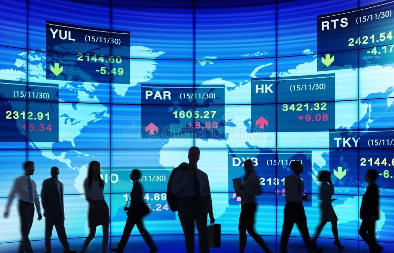 Концепции валютного рынка фондовой биржи торгуя стоковое изображение