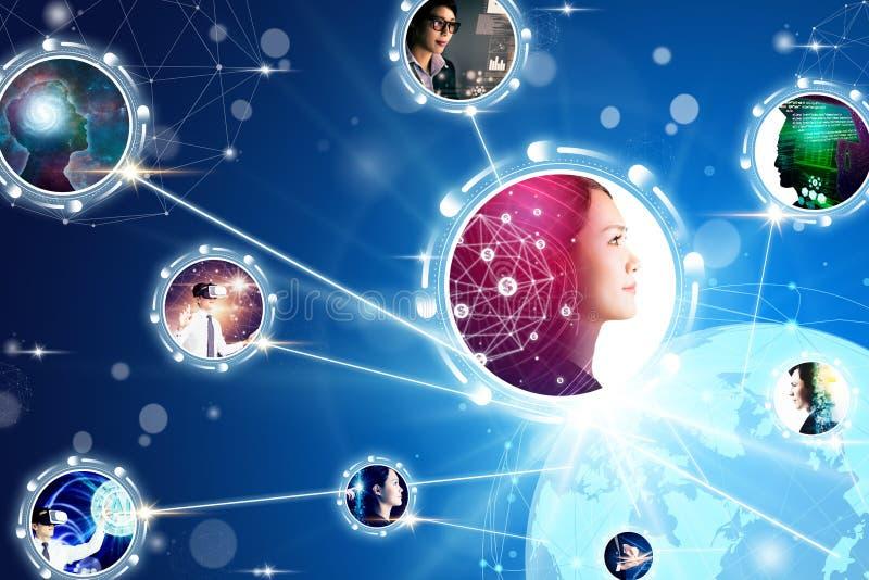 концепции делового сообщества и технологии стоковое фото rf