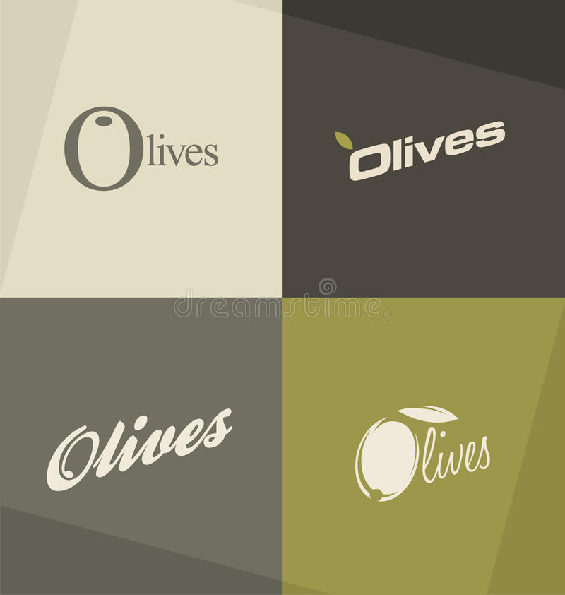 Концепции и идеи логотипа оливок иллюстрация вектора