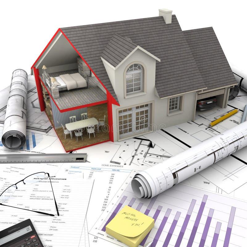 Концепции снабжения жилищем иллюстрация штока