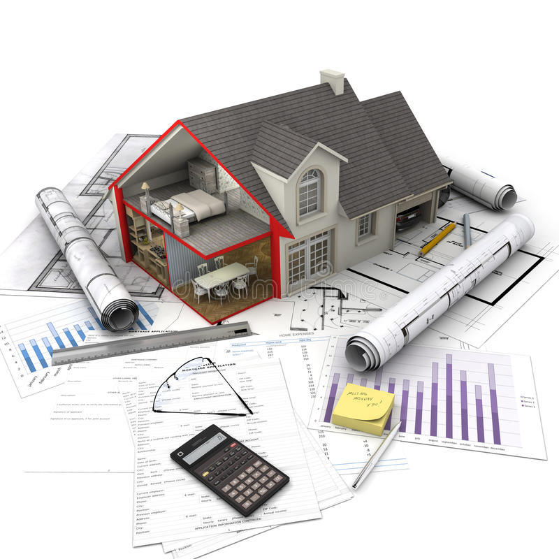 Концепции снабжения жилищем бесплатная иллюстрация