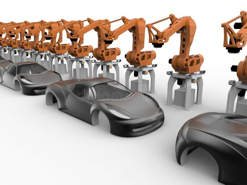 Концепция автомобильной промышленности иллюстрация штока