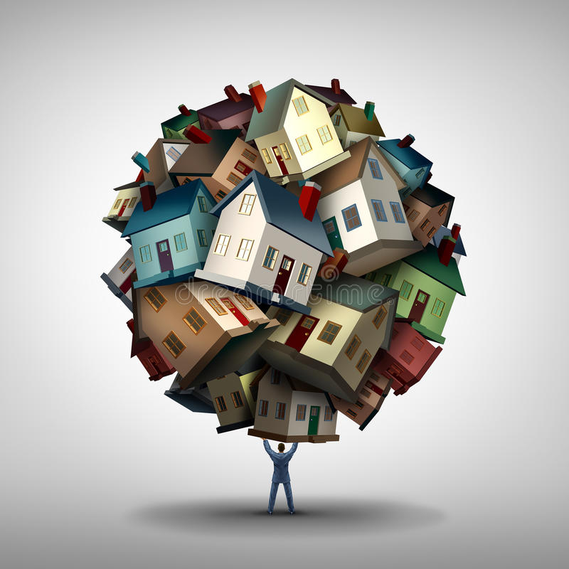 Концепция агента недвижимости иллюстрация штока