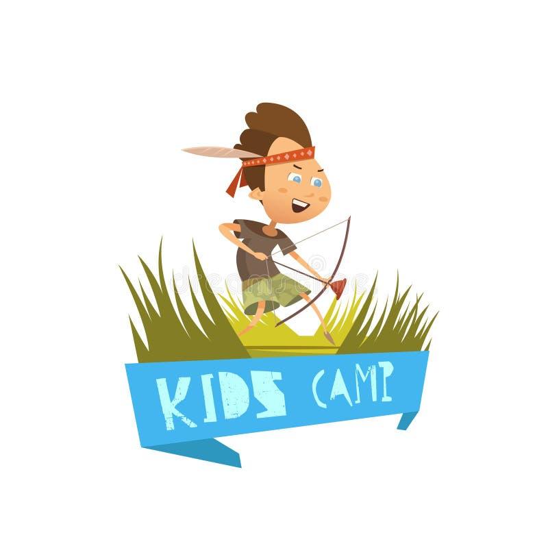 Концепция лагеря детей иллюстрация вектора