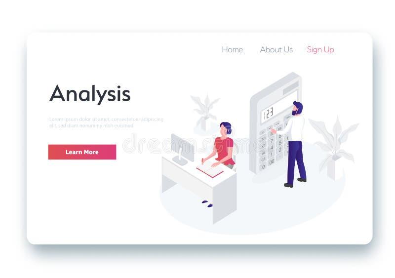 Концепция анализа, сеть бесплатная иллюстрация