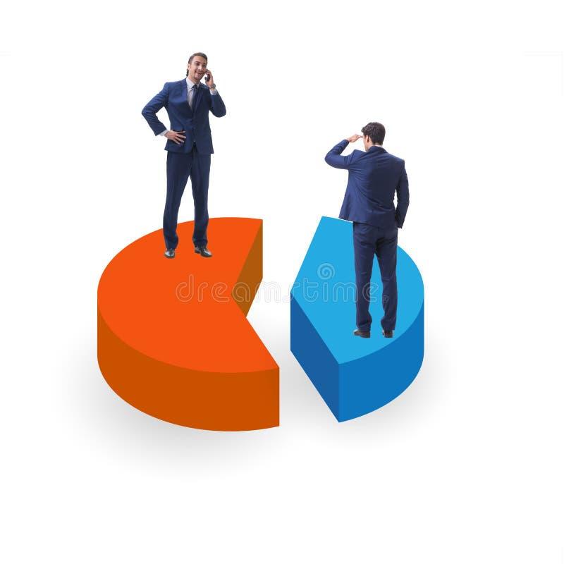 Концепция аналитика дела с долевой диограммой стоковое изображение