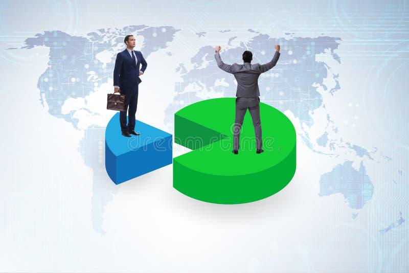 Концепция аналитика дела с долевой диограммой стоковая фотография rf