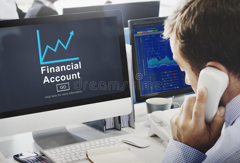 Концепция анализа роста наличных денег денег финансового счета стоковое изображение rf