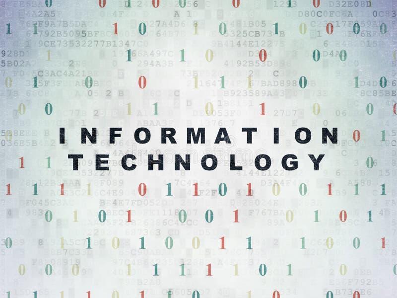 Концепция данных: Информационная технология на цифров иллюстрация вектора