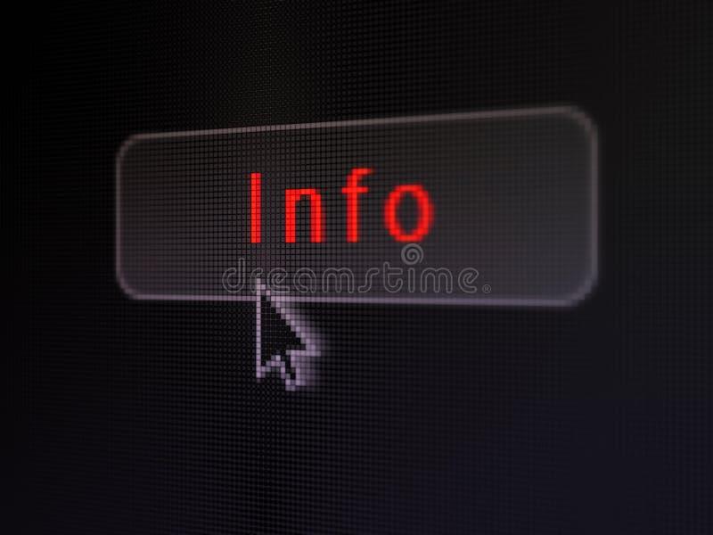Концепция данных: Информация на цифровой предпосылке кнопки стоковое изображение rf