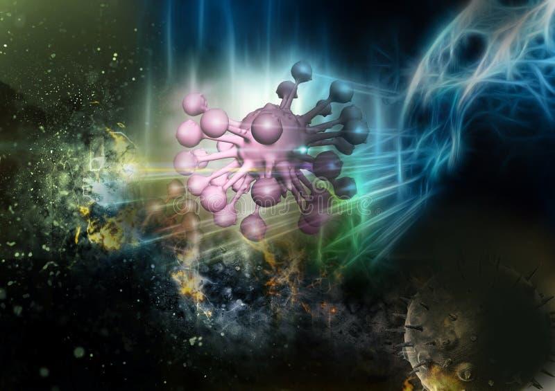 Концепция аллергии цветня иллюстрация штока