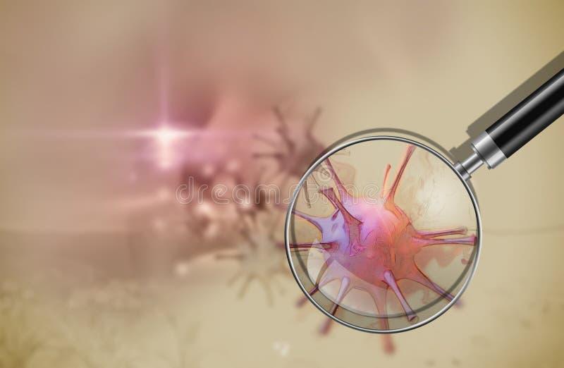 Концепция аллергии цветня иллюстрация вектора