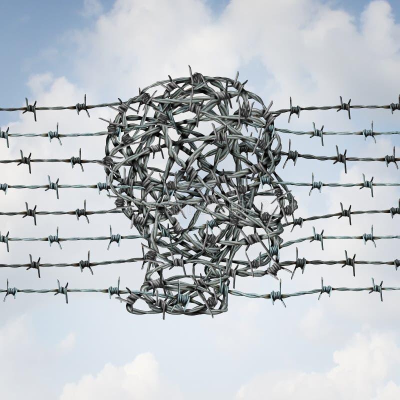 Концепция безопасности границ бесплатная иллюстрация