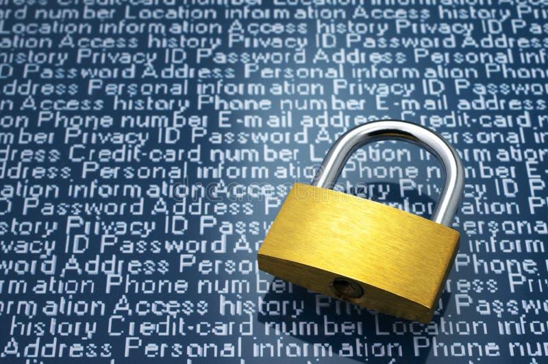 Концепция безопасностью: Защита персональной информации стоковое изображение rf