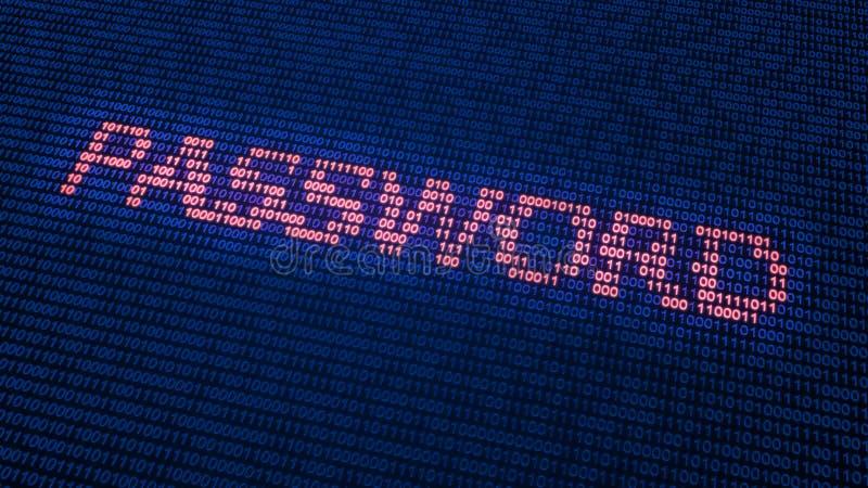 Концепция безопасностью кибер бесплатная иллюстрация