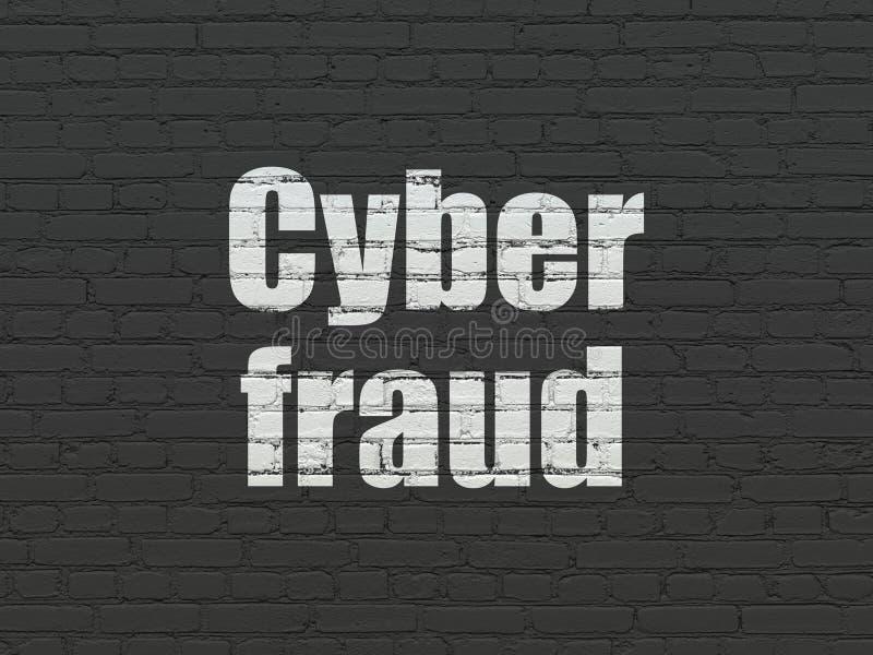 Концепция безопасностью: Очковтирательство кибер на предпосылке стены стоковая фотография rf