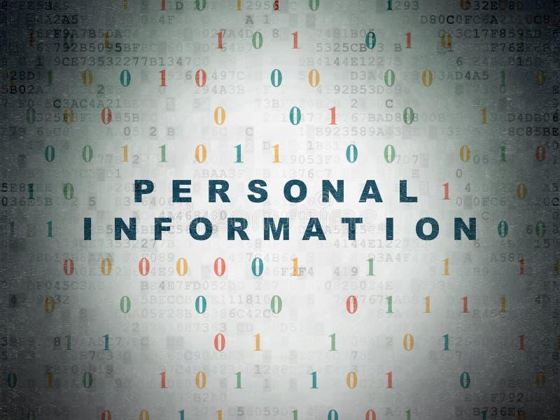 Концепция безопасностью: Персональная информация на бумаге иллюстрация вектора