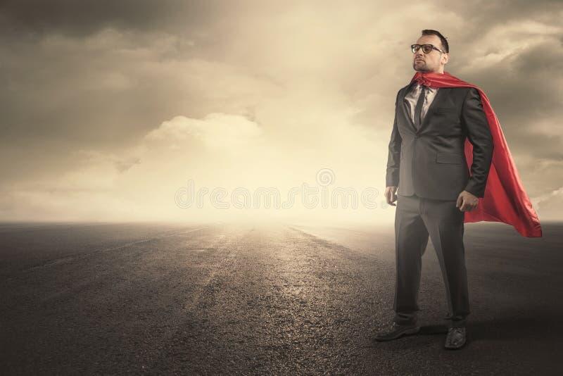Концепция бизнесмена супергероя стоковое фото rf