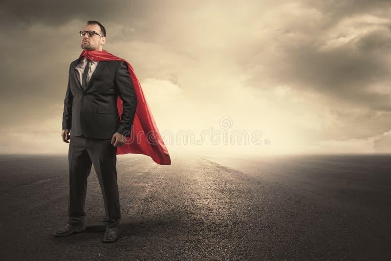 Концепция бизнесмена супергероя стоковые изображения rf