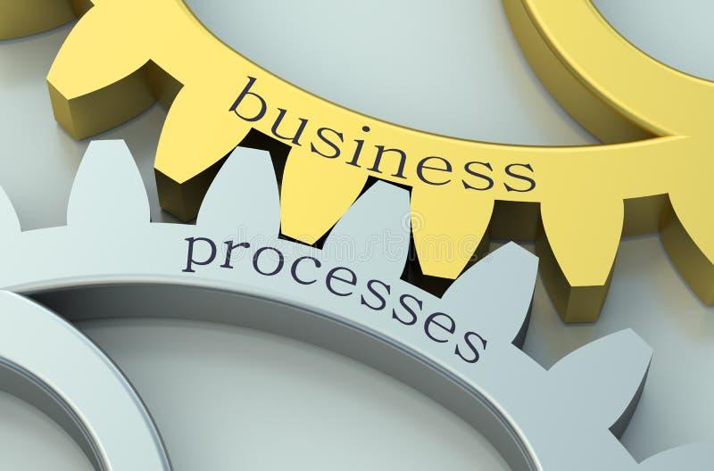 Концепция бизнес-процессов на gearwheels иллюстрация штока