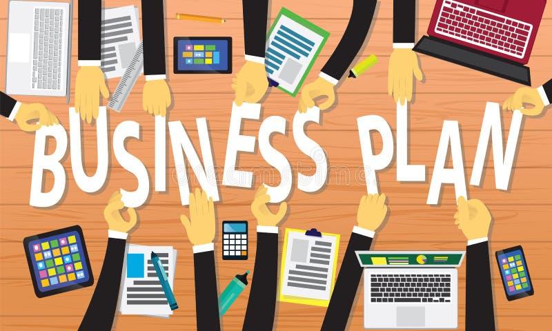 Концепция бизнес-плана иллюстрация вектора