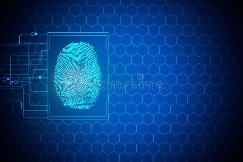 Концепция биометрии иллюстрация штока
