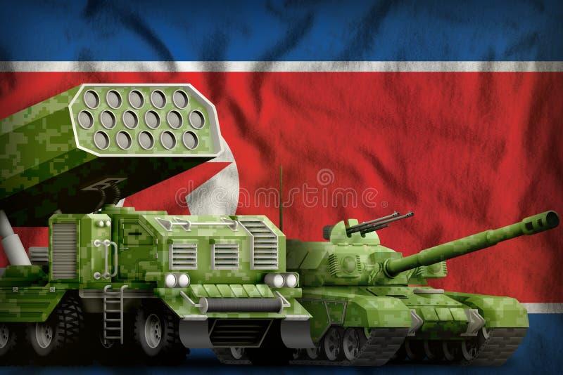 Концепция бронированных транспортных средств Северной Кореи Корейской Народно-Демократическая Республики тяжелая воинская на пред стоковые изображения rf