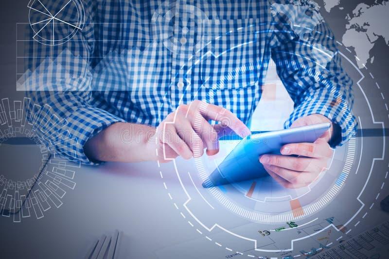 Концепция будущего, связи и fintech стоковые фото