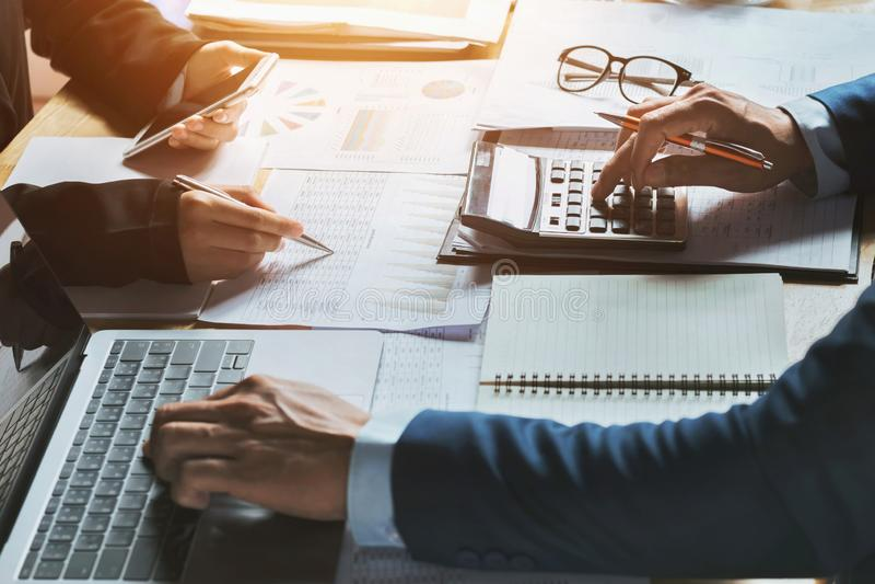 Концепция бухгалтерии бизнес-леди сыгранности финансовая стоковое фото