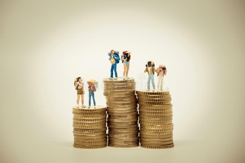 Концепция бюджета перемещения Фото макроса стоковые изображения