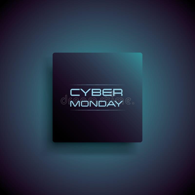 Концепция вектора знамени продажи понедельника кибер с современной предпосылкой Магазин цифров, дела e-магазина и особенные предл бесплатная иллюстрация