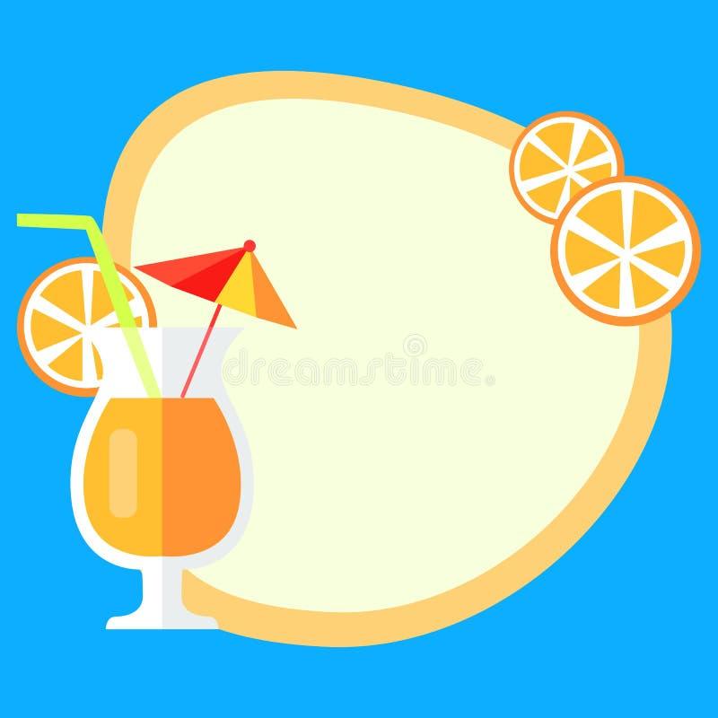 Концепция вектора летних каникулов с свежим соком бесплатная иллюстрация