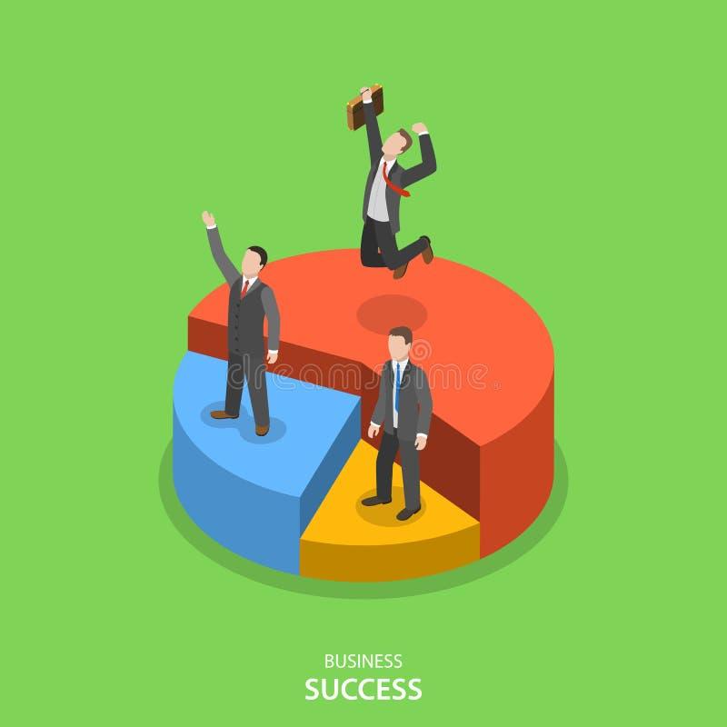 Концепция вектора финансового успеха равновеликая плоская иллюстрация штока