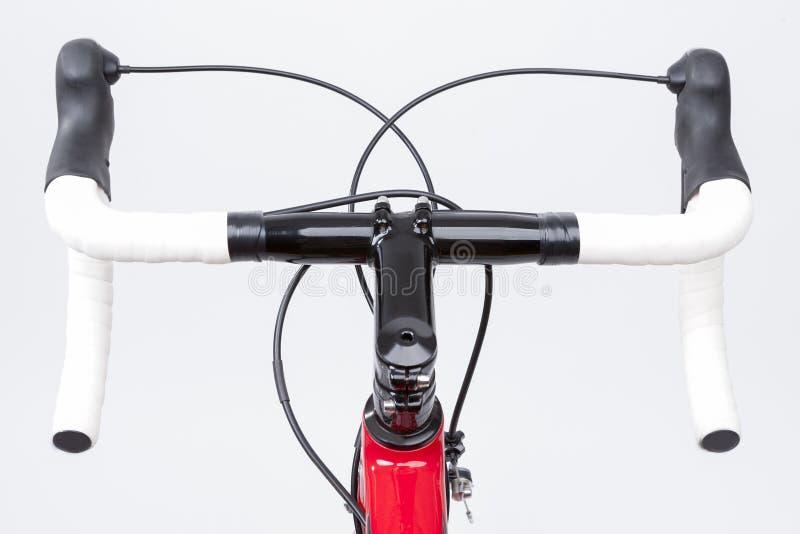 Концепция велосипеда Частично взгляд профессионального велосипеда дороги углерода стоковое фото rf