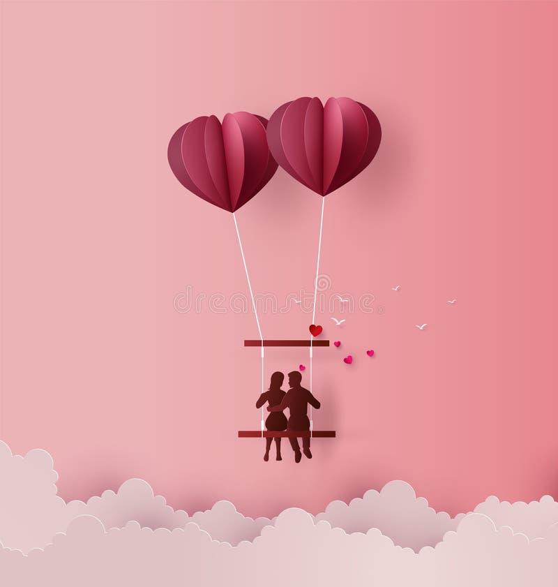 Концепция влюбленности и дня валентинки иллюстрация штока
