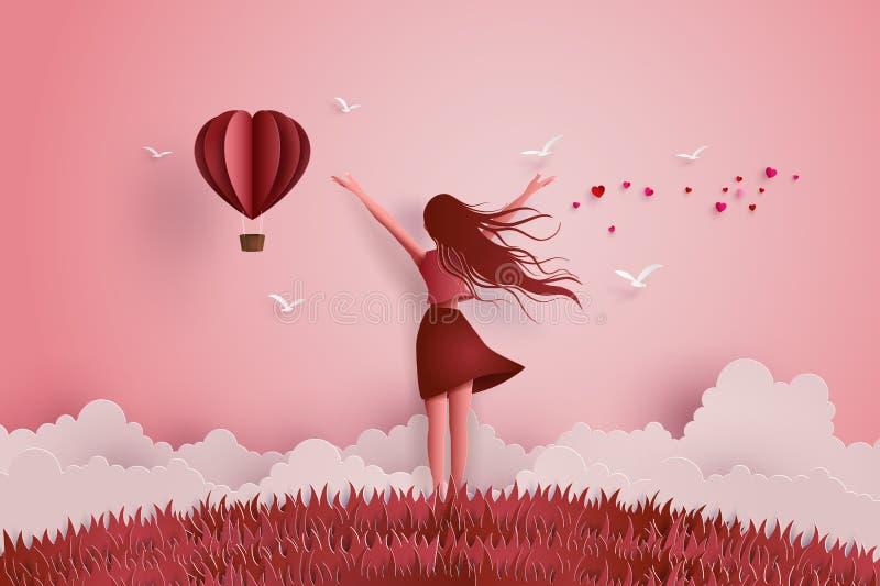 Концепция влюбленности свободы иллюстрация штока