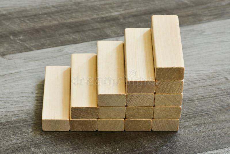 Концепция возможности/цели - лестница вверх строительных блоков o стоковые фотографии rf