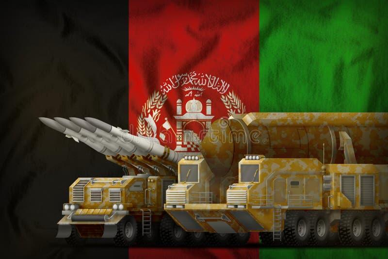 Концепция войск ракеты Афганистана на предпосылке национального флага иллюстрация 3d бесплатная иллюстрация