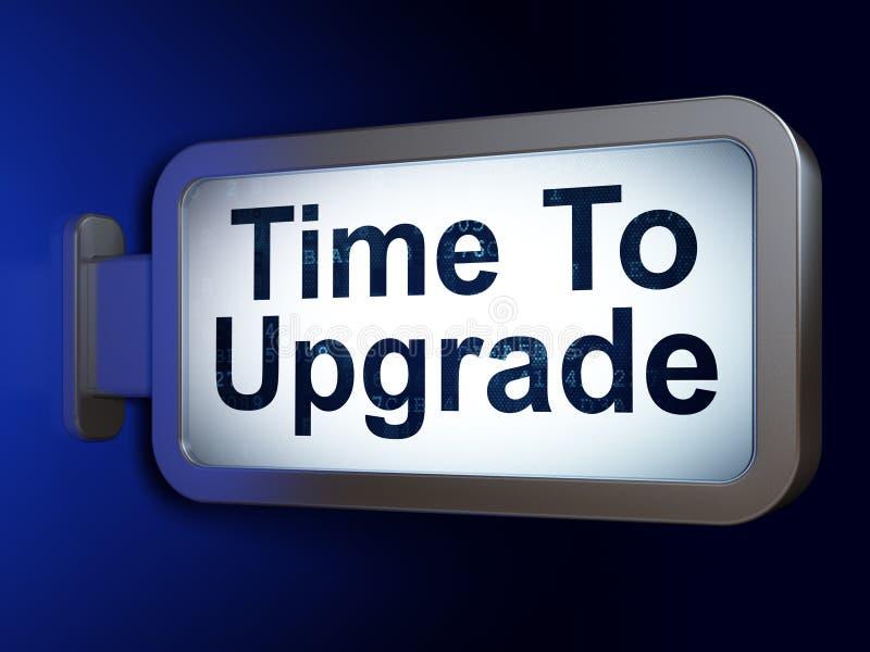 Концепция времени: Время модернизировать на предпосылке афиши бесплатная иллюстрация