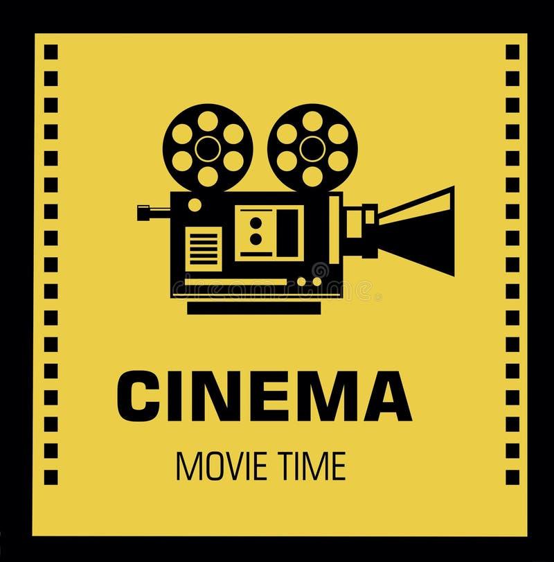 Концепция времени кино Творческий шаблон для плаката кино, знамени бесплатная иллюстрация